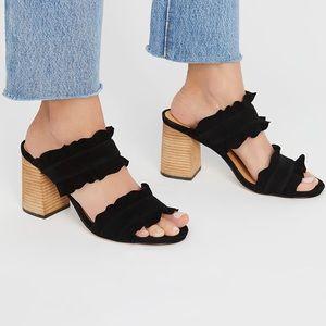 Free People Cleo Ruffle Block Heel